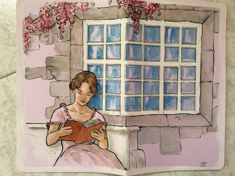 Jane Austen by cucksillustration