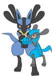 Pokemon lucario and riolu