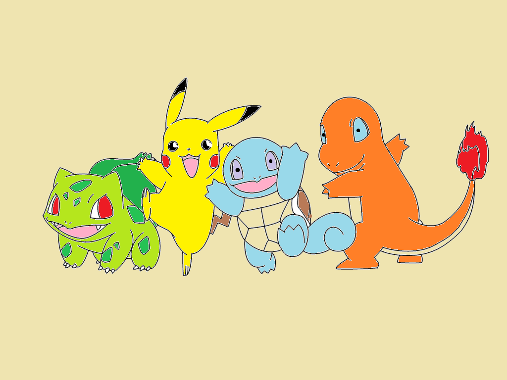 Pokemon - Starter Pokemon by redeyeswolfman
