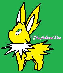 Pokemon Chibi Jolteon by redeyeswolfman