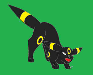 Pokemon - Umbreon Hiss by redeyeswolfman