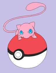Pokemon - Mew by redeyeswolfman