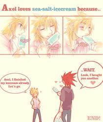 Axel Loves Sea-salt-icecream. by illbewaiting