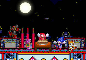 Dinner, A Show, and Knuckles by Toad900
