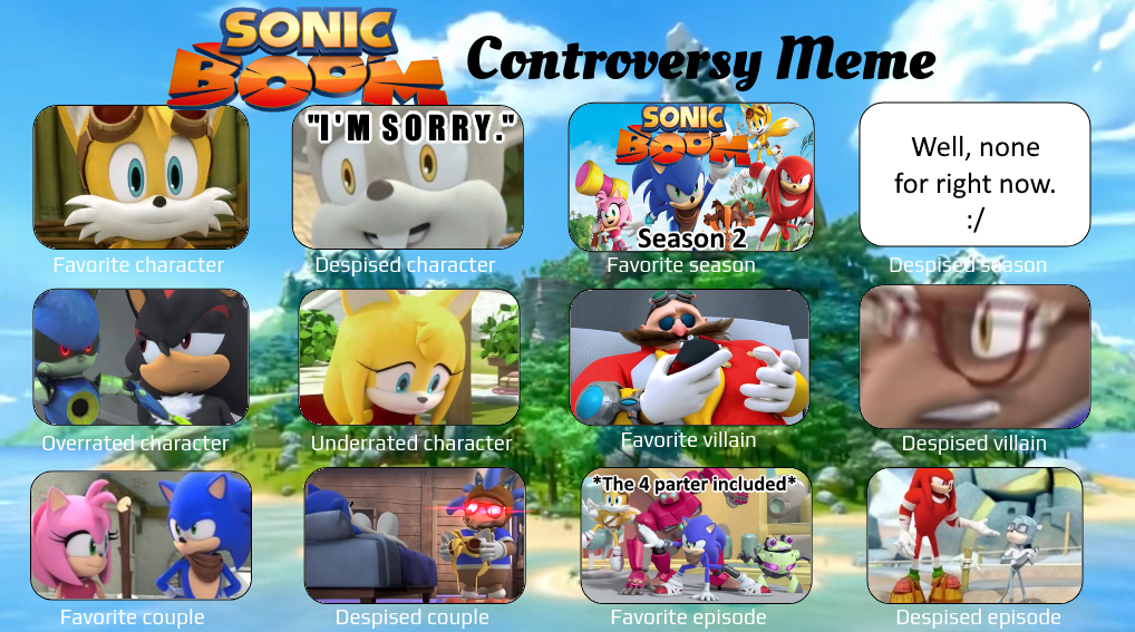 Sonic Boom Controversy Meme By Toad900 On Deviantart