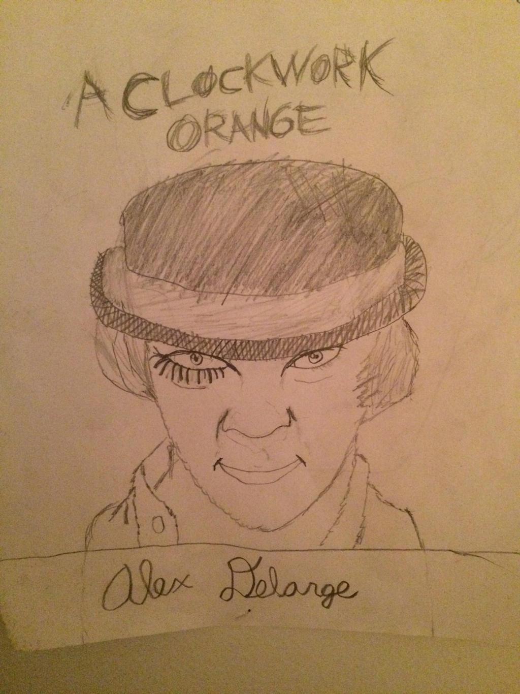 Alex from a clockwork orange pencil drawing by ramonian stones on