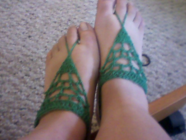 Barefoot Sandals by psychomaniacal-chey