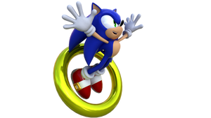 Sonic Jumping Through a Ring