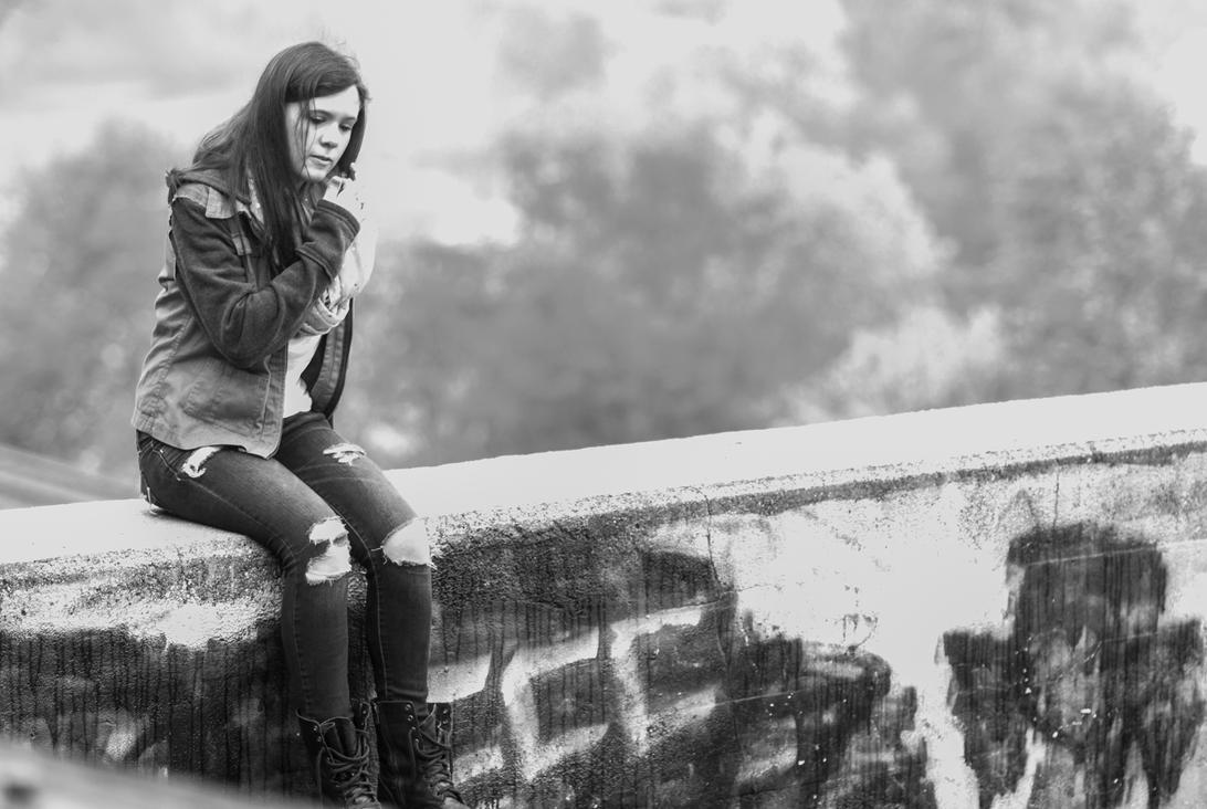 Girl On Bridge By Andrewklamecki On Deviantart