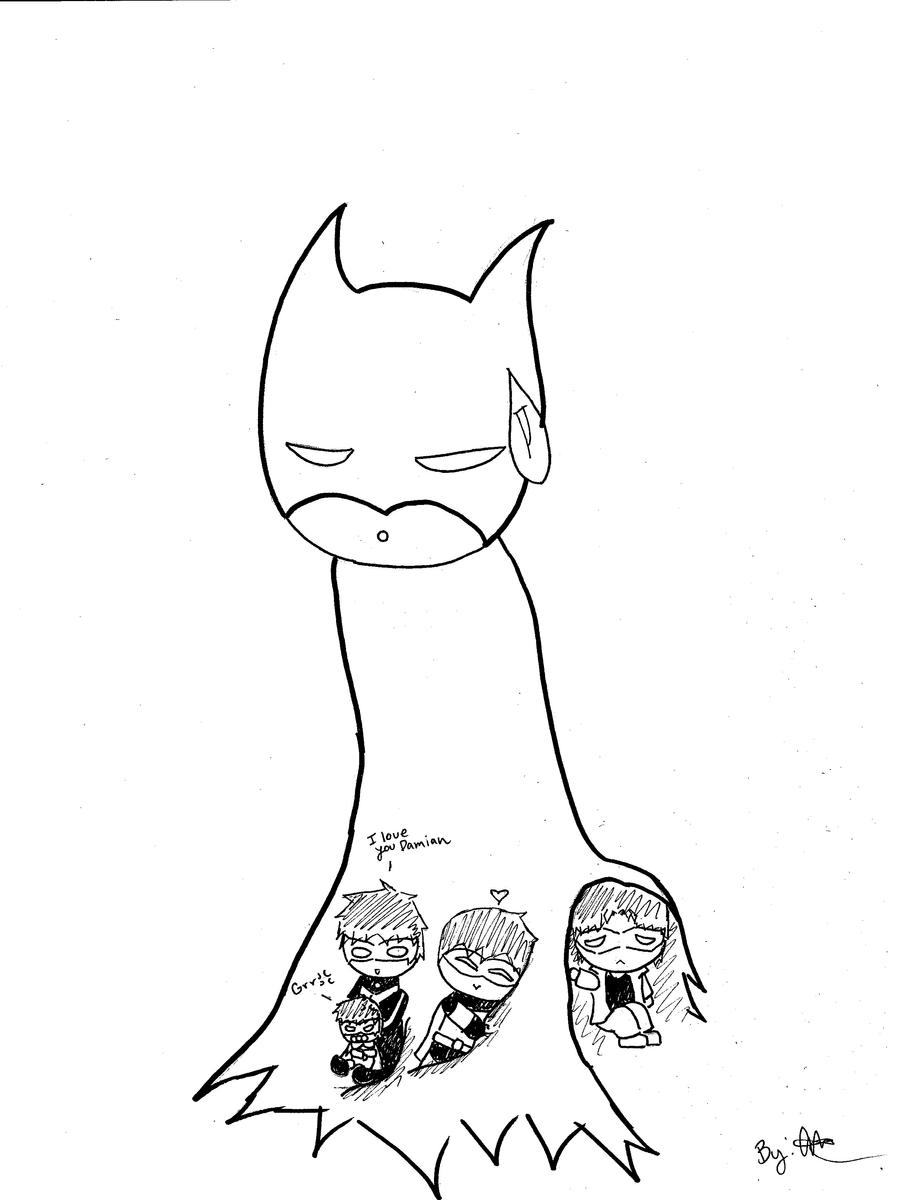 Batman and Kids by monkeyartist30654