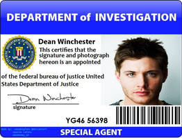 Dean Winchester ID by onepbigfans