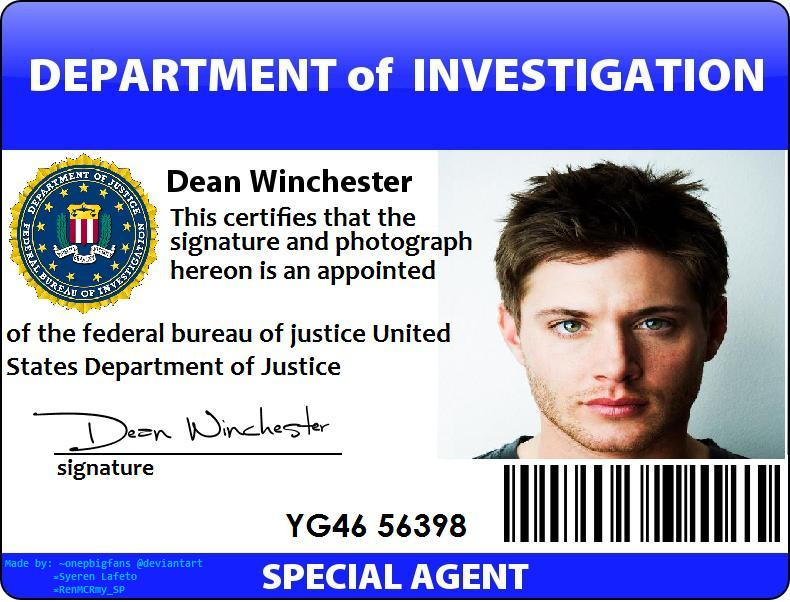 Fbi Id Card Fake Pictures