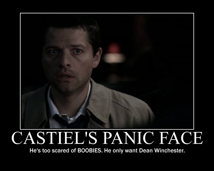 Panic Face of Castiel by onepbigfans
