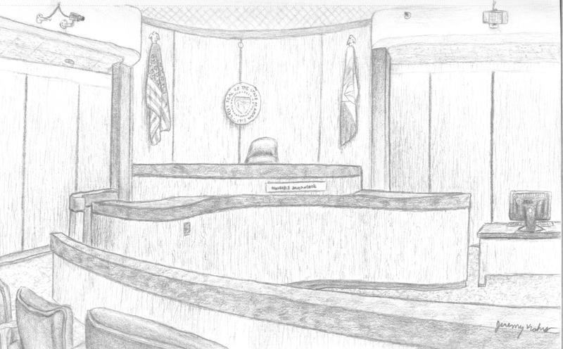 how to draw a courtroom