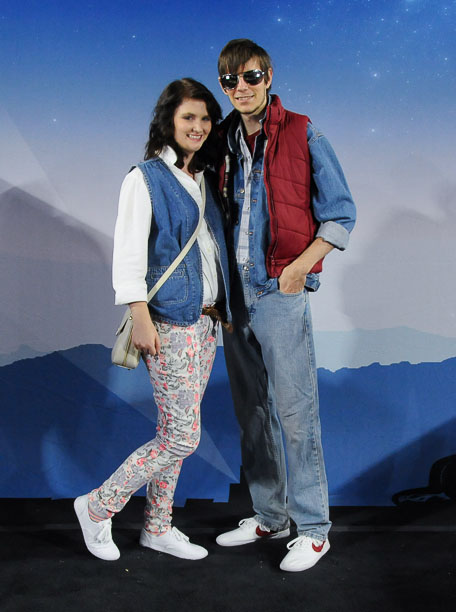 Marty McFly and... Jennifer Parker Back To The Future Costume