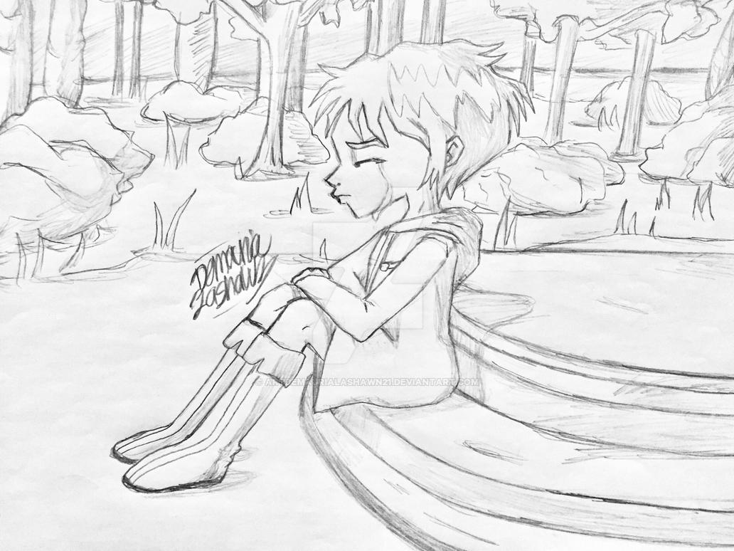 Code Lyoko: Aelita alone  by artdemaurialashawn21