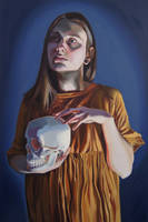 Selfportrait with skull by Oliviator