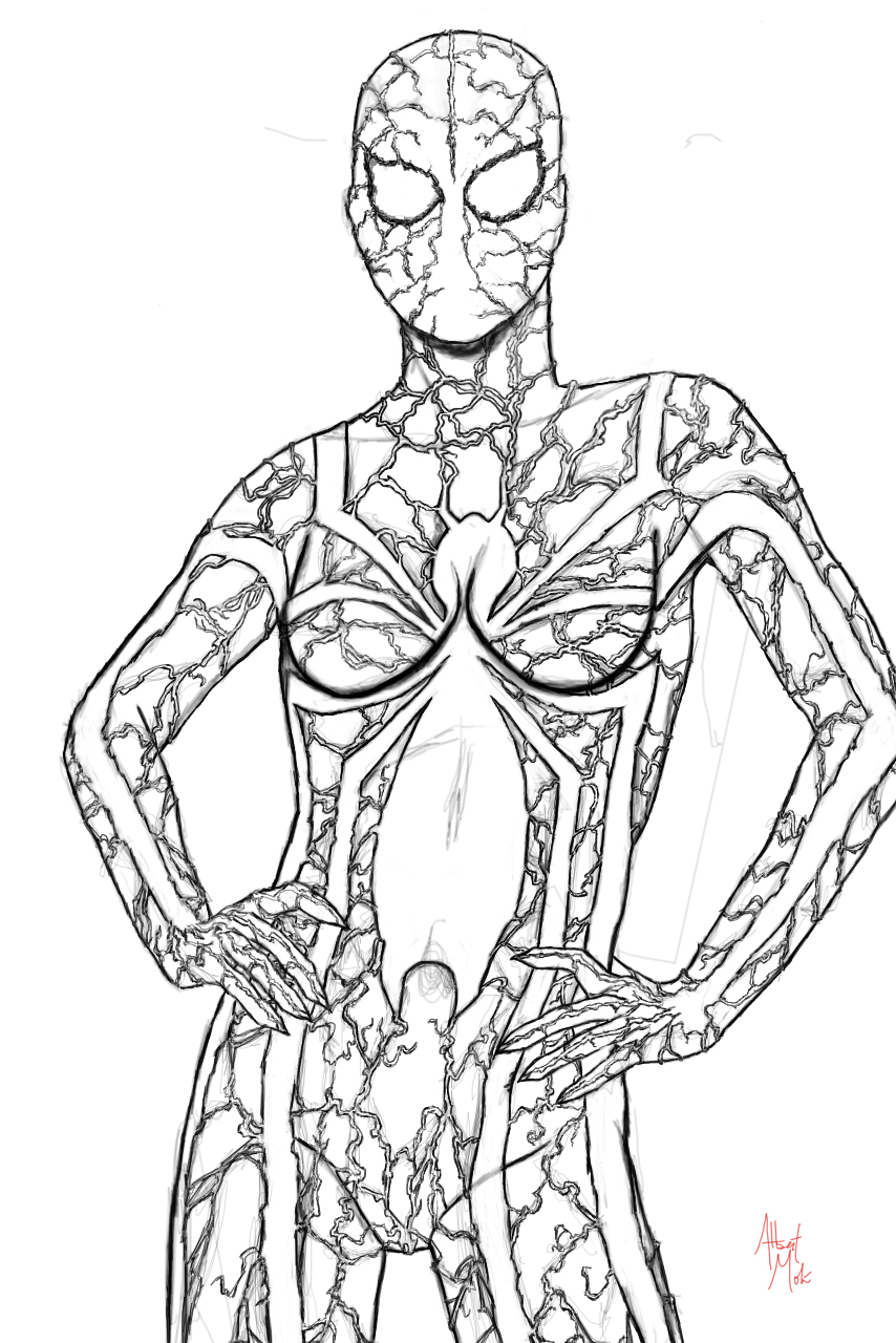 Spider Girl Coloring Pages