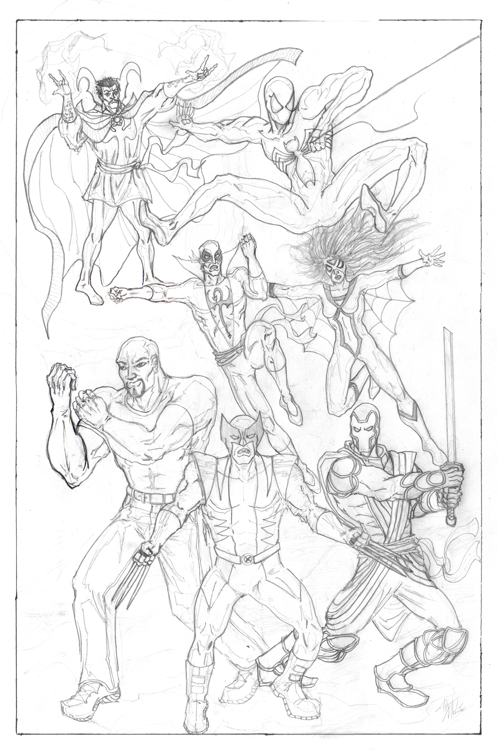 New Avengers Sketch By Albiemo On DeviantART