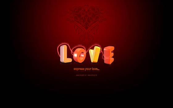 Love - desktop background v.2