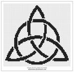 Free pattern: triquetra