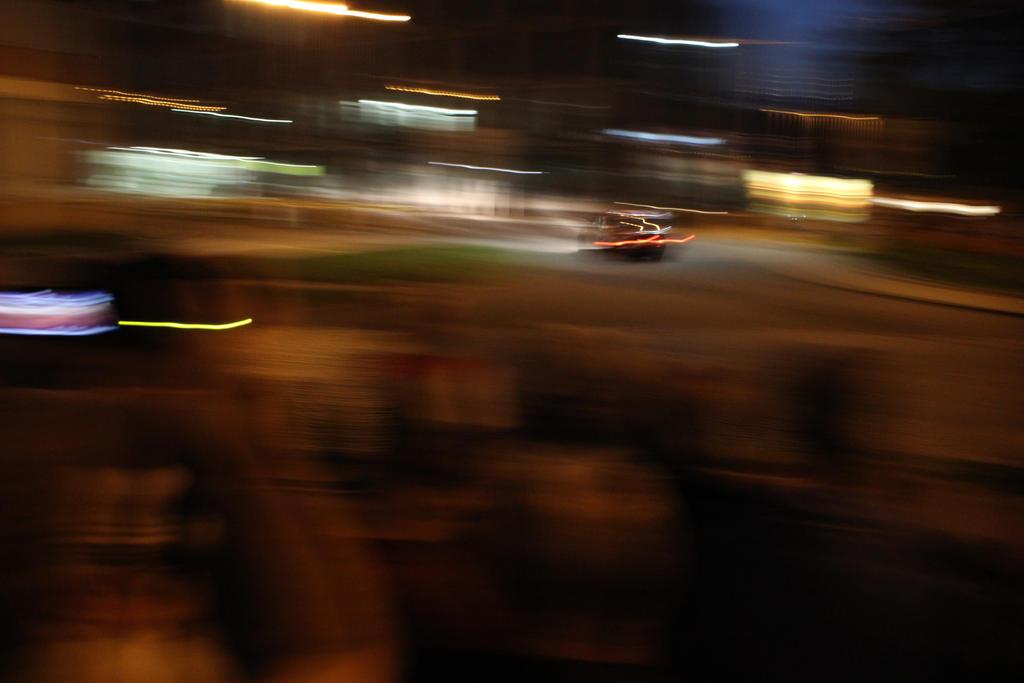 Barum night rally abstract