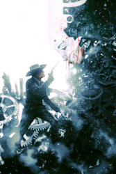 Steampunk Cowboy by reau