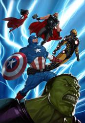 Avengers Assemble! by reau