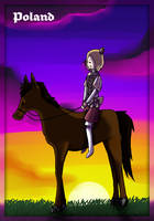 APH: Horse-Back Riding by Field-Of-Roses
