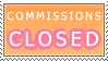 Commissions Closed Stamp by xMandaChanStampsx