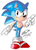 Classic sonic pixel sketch by f-sonic