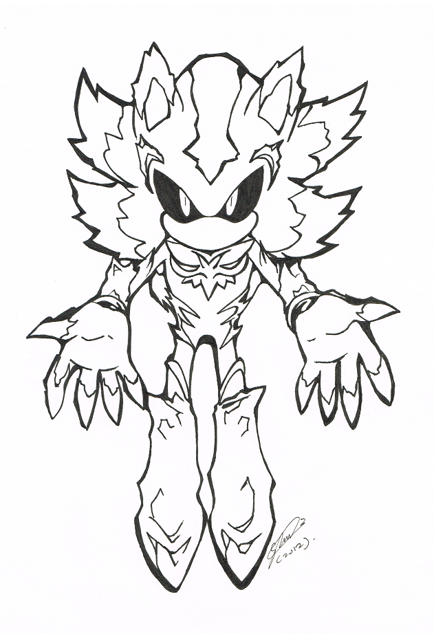 sonic mephiles coloring pages - photo#1