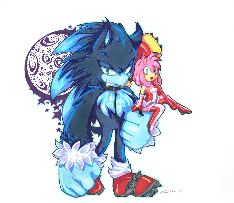 Werehog and Amy_Colour by f-sonic on DeviantArt