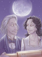 The woman who like Jules Verne by LordSiverius