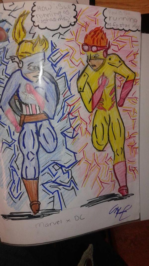 super soldier speedster and speedster  by drawingeek3267