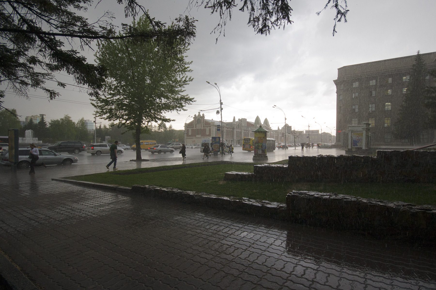 Rain in Novosibirsk by rain