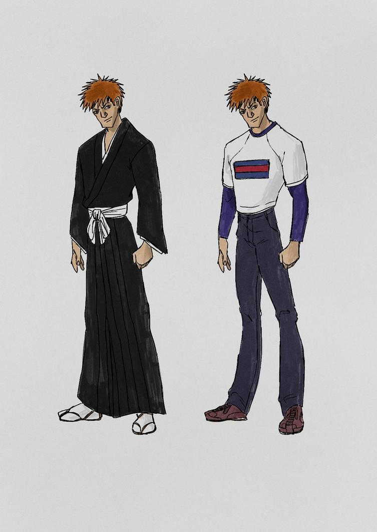 Ichigo Kurosaki in the style of X Men Evolution by bex2524
