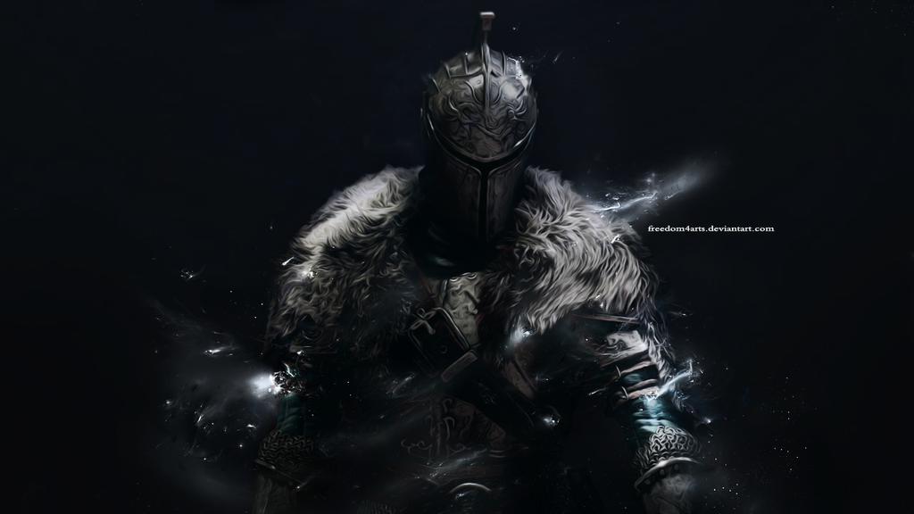 Artwork Dark Souls Ii Wallpaper: Knight Of The Shadows By Freedom4Arts On