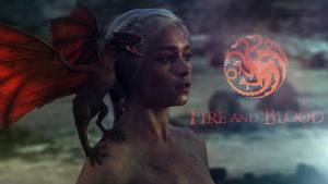 Daenerys Targaryen - Fire And Blood by Freedom4Arts