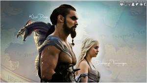 Khal Drogo - Daenerys Targaryen by Freedom4Arts