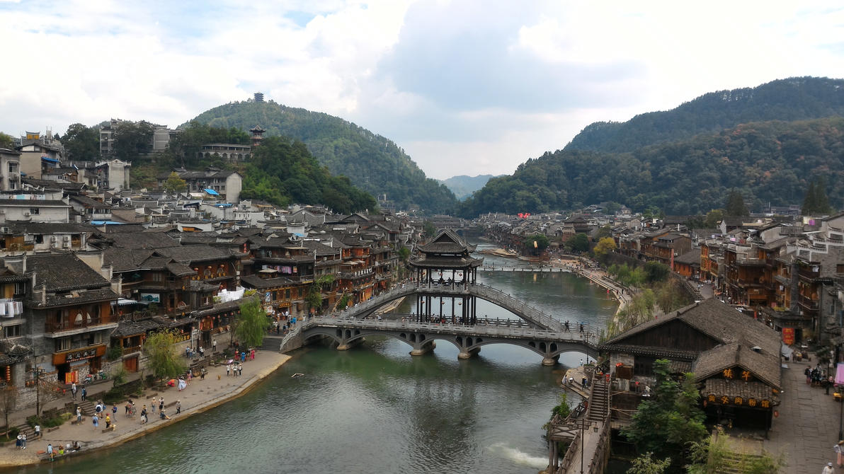 Fenghuang - City view by Freedom4Arts