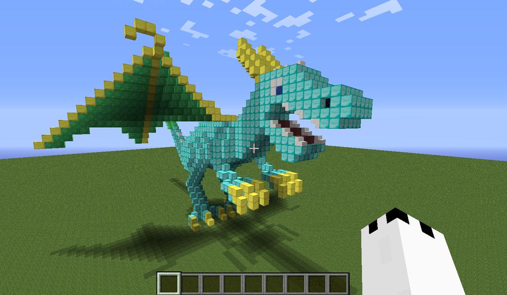 my new diamond dragon by legendarydragonstar