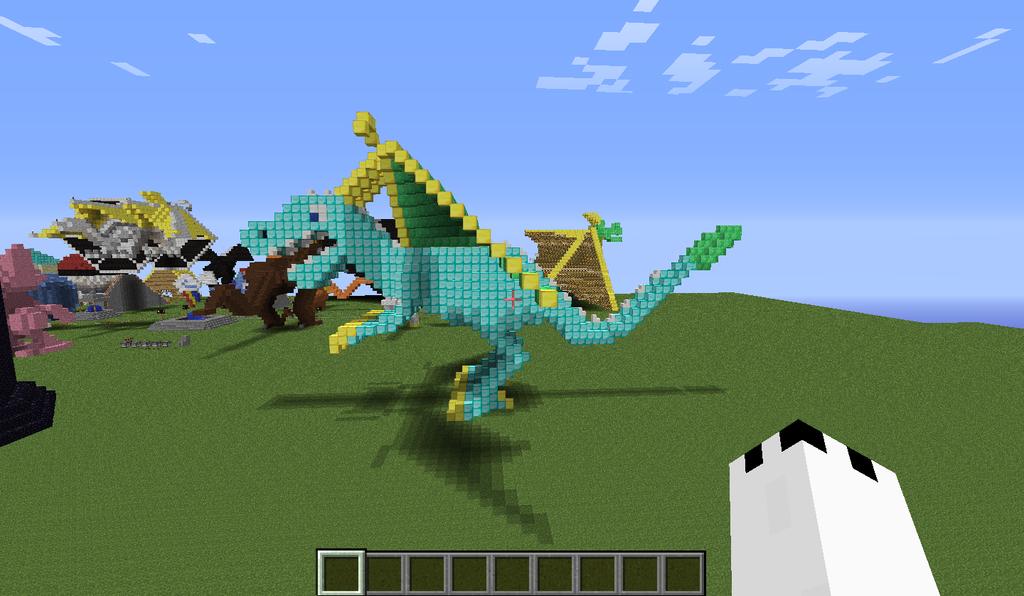 diamond dragon side view by legendarydragonstar