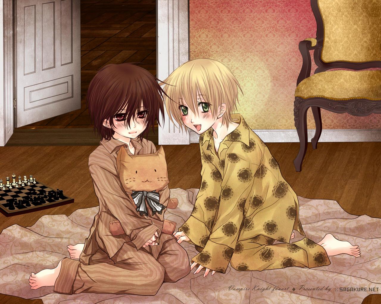 Takuma and Kaname sleepover by Sagakure