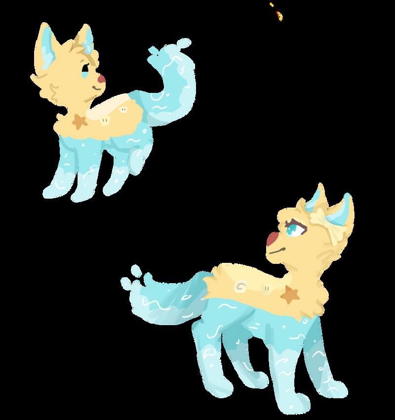 lineless waterdoggo art by yoongsforever