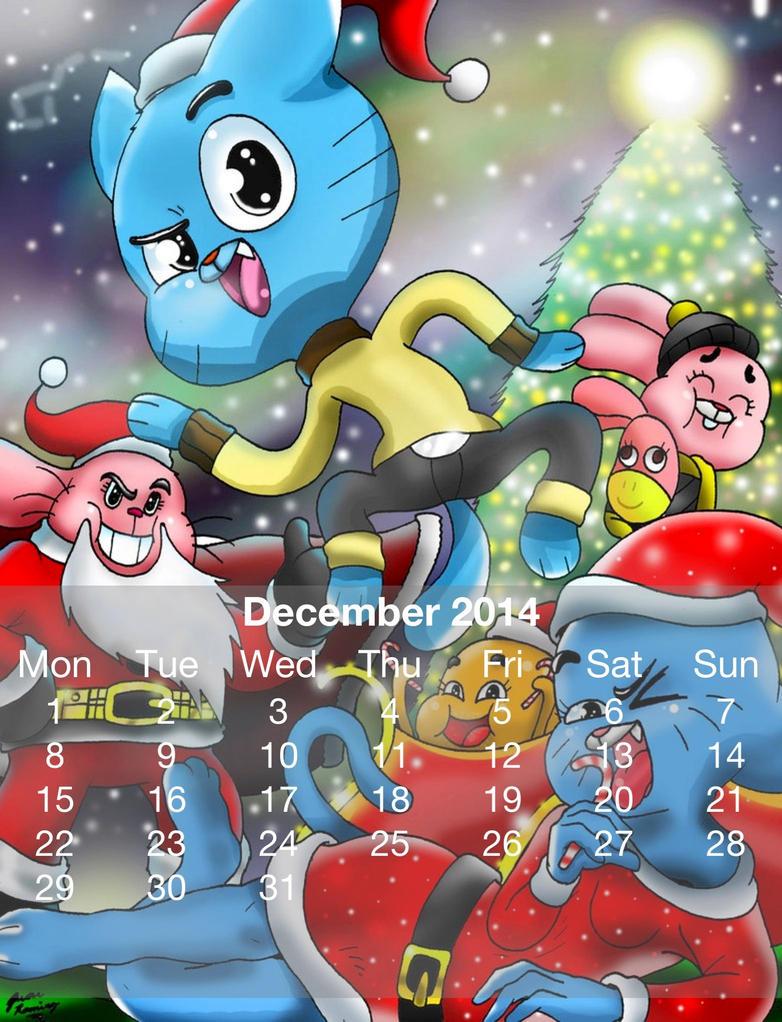 Gumball Calander 2014 December by HitmonchanMan