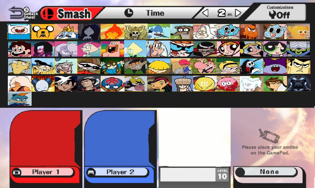 My Cartoon Network Smash NEW Roster *Update* by HitmonchanMan