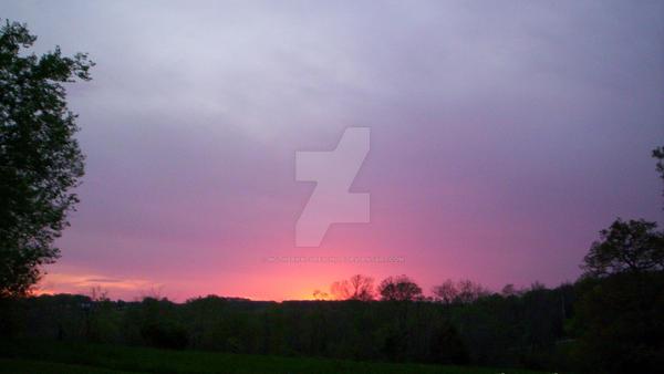Purple and Pink Sunsets by MotherNaturesChild