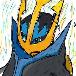 Empoleon Sketch by FrozenFlame8342
