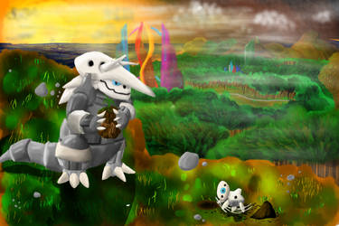 Aggron's dawn by FrozenFlame8342
